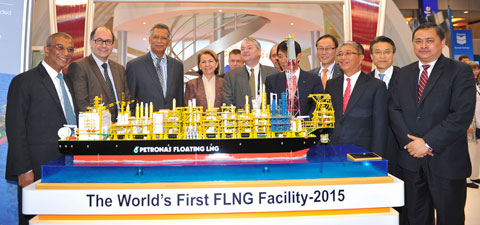 Petronas new FLNG vessel is under construction - photo from DNV